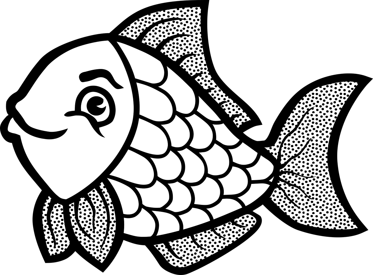 Im genes de peces para colorear im genes chidas for Black line coloring pages