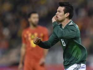 Chucky Lozano Festejando Gol Con La Seleccion