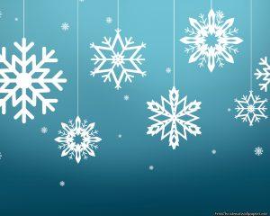 Fondos de pantalla de Navidad de copos de nieve