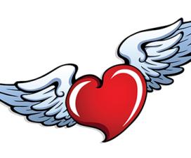 Imágenes de corazones con alas chingones