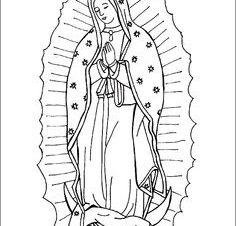 Imágenes de la Virgen de Guadalupe para colorear bonitas